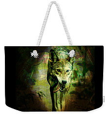 Weekender Tote Bag featuring the digital art The Spirit Of The Wolf by Absinthe Art By Michelle LeAnn Scott