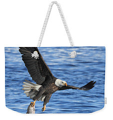 Weekender Tote Bag featuring the photograph The Spoils by Coby Cooper
