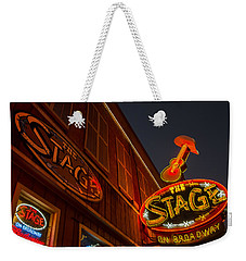 Weekender Tote Bag featuring the photograph The Stage by Glenn DiPaola