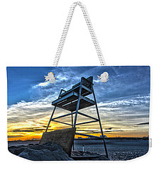 The Stand At Sunset Weekender Tote Bag