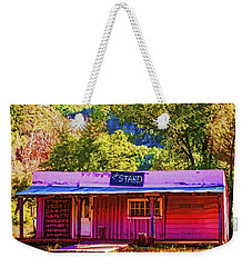 Weekender Tote Bag featuring the painting The Stand by Muhie Kanawati