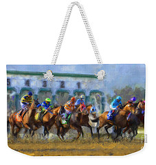 The Starting Gate Weekender Tote Bag by Andrea Auletta