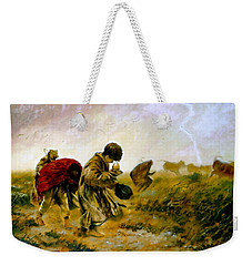 Weekender Tote Bag featuring the painting The Storm by Henryk Gorecki