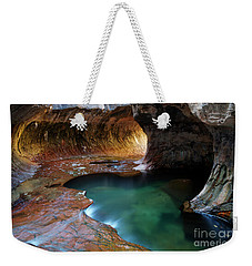 The Subway Sacred Light Weekender Tote Bag by Bob Christopher