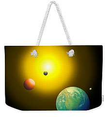 Weekender Tote Bag featuring the digital art The Sun by Cyril Maza