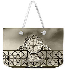 The Sun Orioles Clock - Sepia Weekender Tote Bag by Brian Wallace