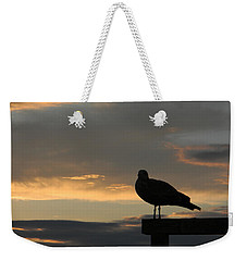 Weekender Tote Bag featuring the photograph The Sunset Perch by Jean Goodwin Brooks