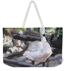 The Swan Weekender Tote Bag by Lori Brackett