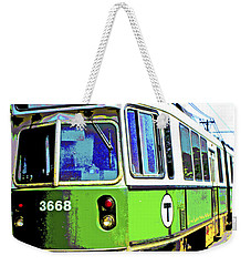 The T Trolley Car Boston Massachusetts 1990 Poster Weekender Tote Bag