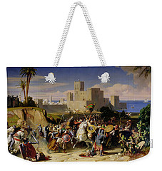 The Taking Of Beirut By The Crusaders Weekender Tote Bag by Alexandre Jean Baptiste Hesse