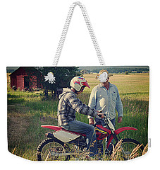 Weekender Tote Bag featuring the photograph The Teacher by Meghan at FireBonnet Art