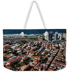 Weekender Tote Bag featuring the photograph the Tel Aviv charm by Ron Shoshani