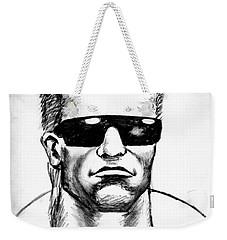 Weekender Tote Bag featuring the painting Arnold Schwarzenegger by Salman Ravish