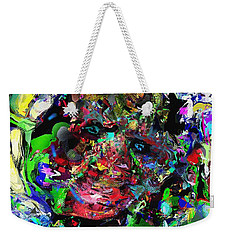 Weekender Tote Bag featuring the digital art The Thinker by David Lane