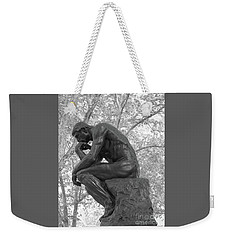 The Thinker - Philadelphia Bw Weekender Tote Bag