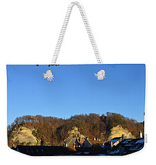 Weekender Tote Bag featuring the photograph The Three Stones From Burgdorf by Felicia Tica
