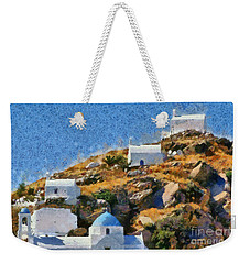 The Top Of Ios Town Weekender Tote Bag