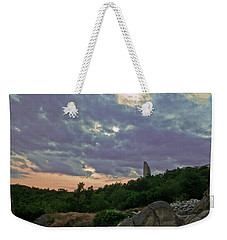 Weekender Tote Bag featuring the photograph The Tower by Eti Reid