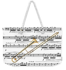 The Trombone Weekender Tote Bag