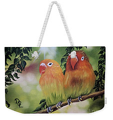 The Tweetest Love Weekender Tote Bag by Dianna Lewis