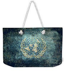 The United Nations Flag  Vintage Version Weekender Tote Bag