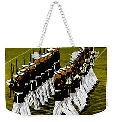The United States Marine Corps Silent Drill Platoon Weekender Tote Bag by Robert Bales