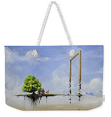 Weekender Tote Bag featuring the painting The Untold Story... by Mariusz Zawadzki