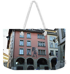 Weekender Tote Bag featuring the photograph The Upper Town by Felicia Tica