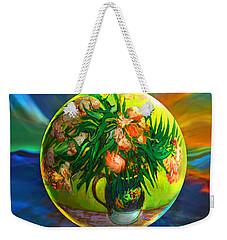 Weekender Tote Bag featuring the painting The Van Gloughing Vase by Robin Moline