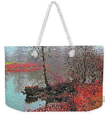 The View Across The Rideau On A Foggy Morning Weekender Tote Bag