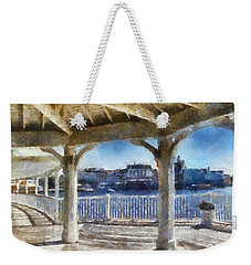 The View From The Boardwalk Gazebo Wdw 02 Photo Art Weekender Tote Bag by Thomas Woolworth