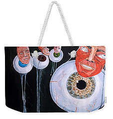 The Vision Behind The Structure Behind The Eyes Weekender Tote Bag by Lazaro Hurtado