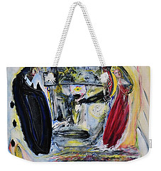 Weekender Tote Bag featuring the painting The Vision Of Ironstar by Kicking Bear  Productions