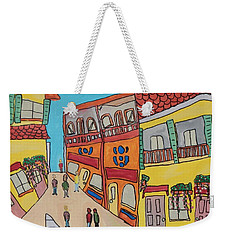 Weekender Tote Bag featuring the painting The Walled City by Artists With Autism Inc