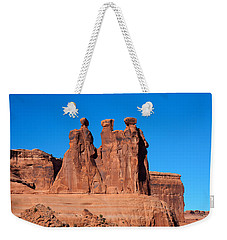 Weekender Tote Bag featuring the photograph The Watchers by John M Bailey