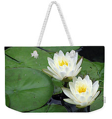 Weekender Tote Bag featuring the photograph The Water Lilies Collection - 06 by Pamela Critchlow