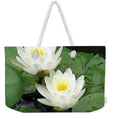 Weekender Tote Bag featuring the photograph The Water Lilies Collection - 07 by Pamela Critchlow