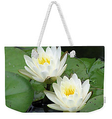 Weekender Tote Bag featuring the photograph The Water Lilies Collection - 08 by Pamela Critchlow
