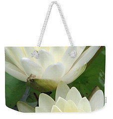 Weekender Tote Bag featuring the photograph The Water Lilies Collection - 09 by Pamela Critchlow