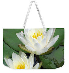 Weekender Tote Bag featuring the photograph The Water Lilies Collection - 12 by Pamela Critchlow
