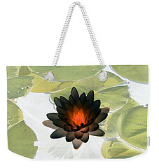 Weekender Tote Bag featuring the photograph The Water Lilies Collection - Photopower 1034 by Pamela Critchlow