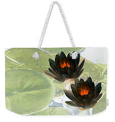 Weekender Tote Bag featuring the photograph The Water Lilies Collection - Photopower 1039 by Pamela Critchlow