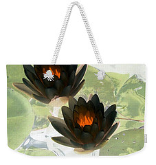 Weekender Tote Bag featuring the photograph The Water Lilies Collection - Photopower 1040 by Pamela Critchlow