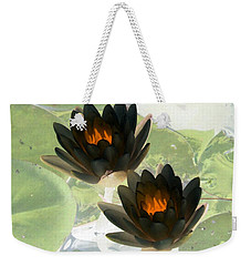 Weekender Tote Bag featuring the photograph The Water Lilies Collection - Photopower 1041 by Pamela Critchlow