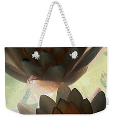 Weekender Tote Bag featuring the photograph The Water Lilies Collection - Photopower 1042 by Pamela Critchlow