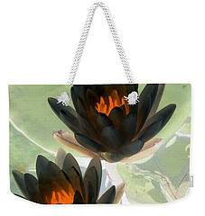 Weekender Tote Bag featuring the photograph The Water Lilies Collection - Photopower 1046 by Pamela Critchlow