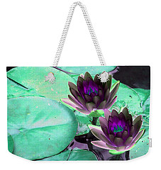 Weekender Tote Bag featuring the photograph The Water Lilies Collection - Photopower 1118 by Pamela Critchlow