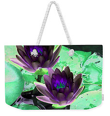 Weekender Tote Bag featuring the photograph The Water Lilies Collection - Photopower 1119 by Pamela Critchlow