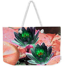 Weekender Tote Bag featuring the photograph The Water Lilies Collection - Photopower 1120 by Pamela Critchlow