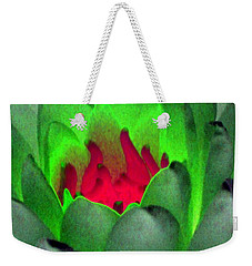 Weekender Tote Bag featuring the photograph The Water Lilies Collection - Photopower 1122 by Pamela Critchlow
